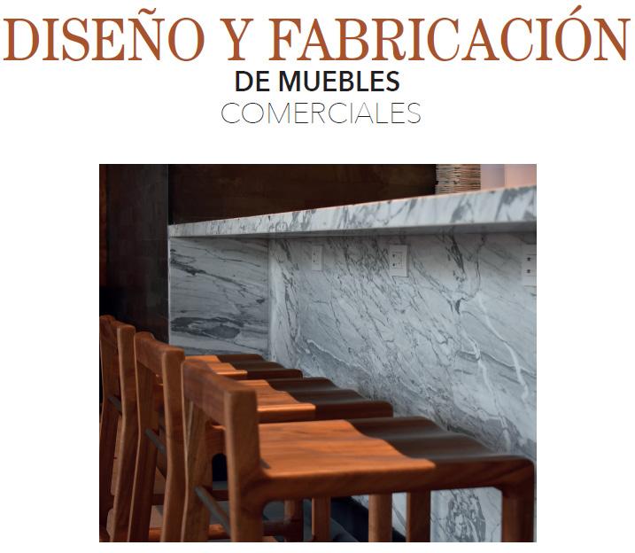 DISEÑO Y FABRICACIÓN DE MUEBLES COMERCIALES