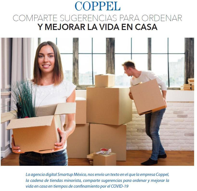 COPPEL COMPARTE SUGERENCIAS PARA ORDENAR Y MEJORAR LA VIDA EN CASA