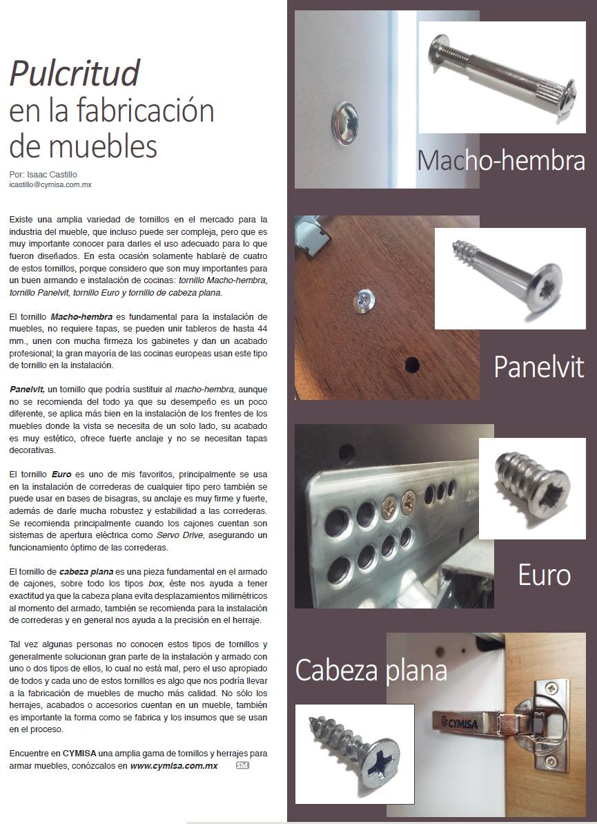 PULCRITUD EN LA FABRICACIÓN DE MUEBLES