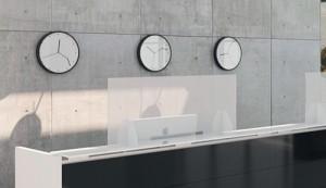 Las mamparas de acrílico de Office Class se fabrican en diferentes medidas para adaptarse a diferentes espacios de trabajo.