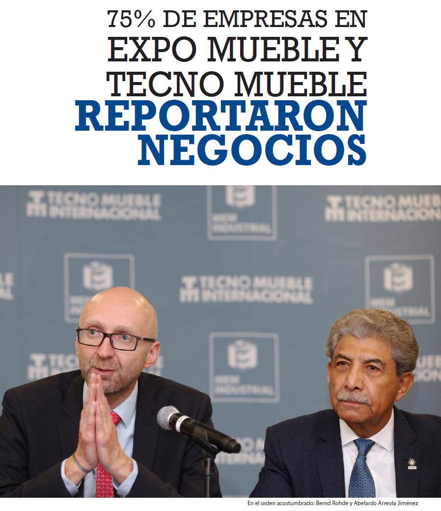 75% DE EMPRESAS EN EXPO MUEBLE Y TECNO MUEBLE REPORTARON NEGOCIOS
