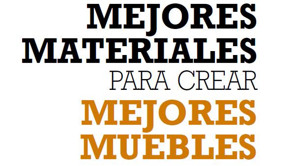 MEJORES MATERIALES PARA CREAR MEJORES MUEBLES