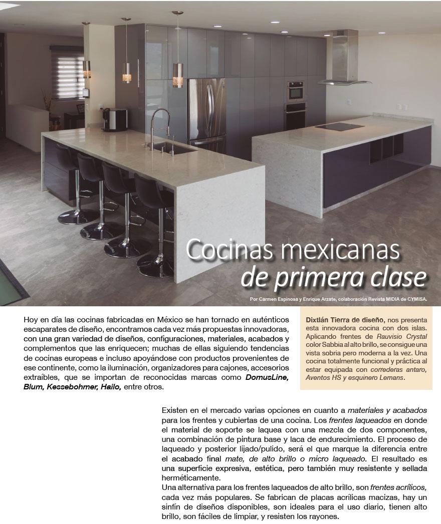 COCINAS MEXICANAS  DE PRIMERA CLASE
