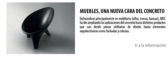 MUEBLES,UNA NUEVA CARA DEL CONCRETO