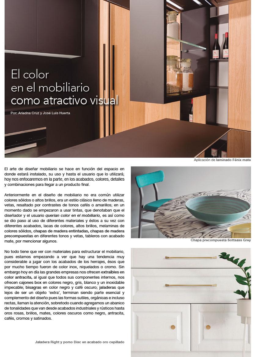 El color en el mobiliario como atractivo visual