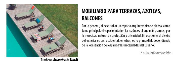 MOBILIARIO PARA TERRAZAS, AZOTEAS, BALCONES