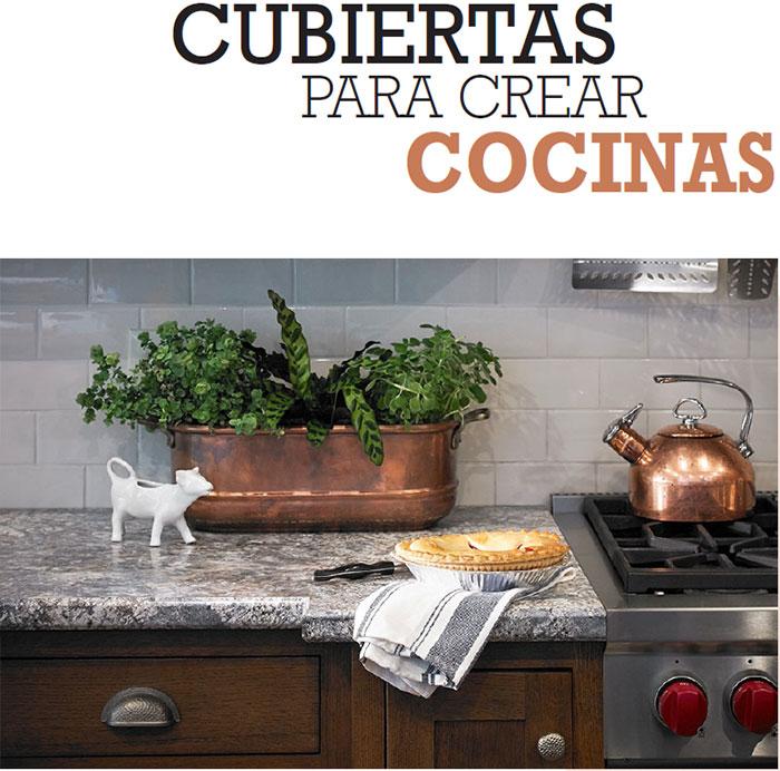 CUBIERTAS PARA CREAR COCINAS